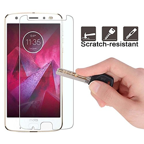 Moto Z2 Force Screen Protector, NOKEA [Tempered Glass] with
