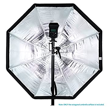 Neewer 31.5 Inches 80 Centimeters Portable Octagonal Umbrella Softbox For Studio Flash, Speedlite, With White Diffuser & Carrying Bag For Portrait Product Photography (Blackblue) 3