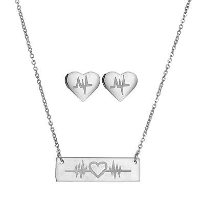 Amazon.com: Yinpinxinmao Fashion ECG - Conjunto de collar y ...
