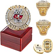 2020 Tampa Bay Championship Ring Official Version with Wooden Box Detachable Alloy Ring Replica Buccaneers Cha
