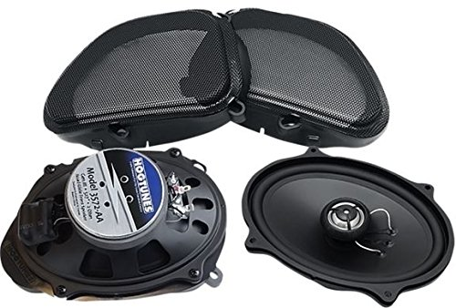 Hogtunes 3572-AA Front Speaker (Gen3 5'' x 7'' for 2006-2013 Harley-Davidson FLTR Road Glide Models) by Hogtunes