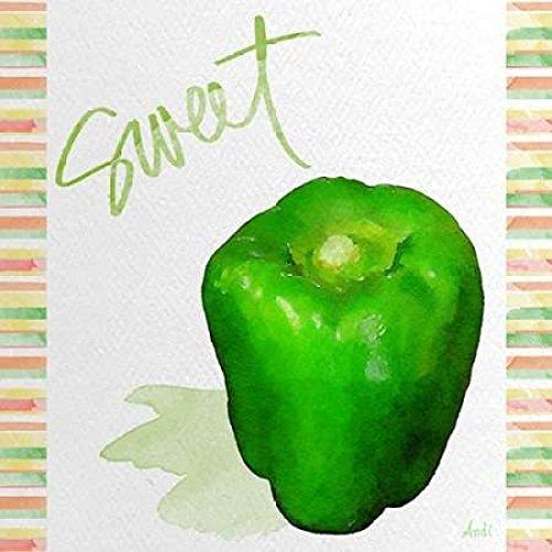Watercolor Pepper III Poster Print by Andi Metz 24 x 24