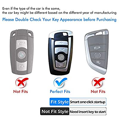 Intermerge for BMW Key Fob Cover, Soft TPU BMW Key Case Shell Pouch for BMW 1 3 4 5 6 7 Series and BMW X3 X4 M5 M6 GT3 GT5 Keyless Entry Key Cover_Blue: Automotive