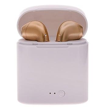 1 Par Auriculares Inalámbricos Bluetooth Auriculares Intrauditivos Con La Caja Del Cargador Para Teléfonos Móviles Apple