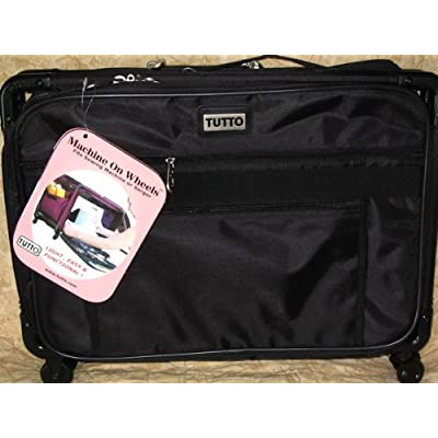 Image of Carrying Cases Medium Black Mascot Tutto Machine on Wheels Sewing Carrier Case