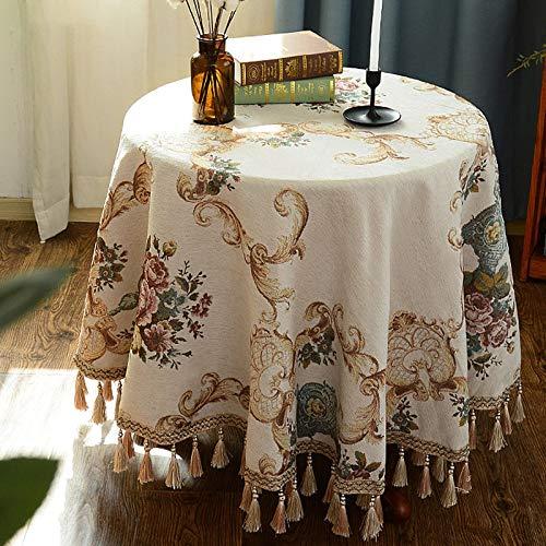 B 120cm Nappes Table Ronde Nappes Imperméables Nappes Essuyables pour Balcon Maison Petite Table Basse Petite Table Ronde (Couleur   B, Taille   120cm)