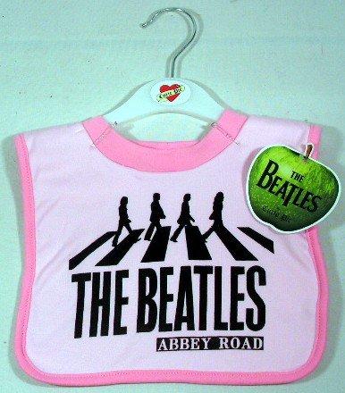The Beatles Abbey Road Bib ~ Pink (Beatles Bib)