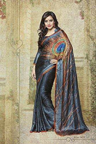 Sari Da Wear Facioun Designer Indian Grey Wedding 2 Women for Purple Party Traditional Sarees 88qwPr