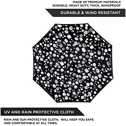 ザフォックスイズブラック 逆さ傘 逆折り式傘 車用傘 耐風 撥水 遮光遮熱 大きい 手離れC型手元 梅雨 紫外線対策 晴雨兼用 ビジネス用 車用 UVカット