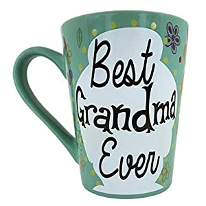 ♥ mothers day gifts ♥ KINREX Coffee & Tea Mug - Best Grandma Ever -12 oz - Gifts for Mom, Women and Ladies