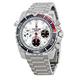 Tudor Hydronaut II Chronograph White Dial Stainless Steel Mens Watch 20360N-WSSS