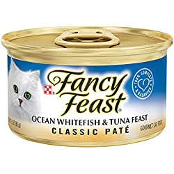Purina Fancy Feast Classic Pate Ocean Whitefish & Tuna Feast Wet Cat Food - (24) 3 Oz. Cans
