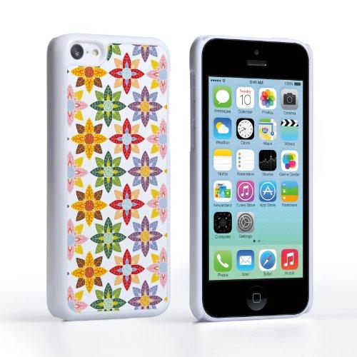 Caseflex iPhone 5C Case Pastel Colours Flowers Hard Cover