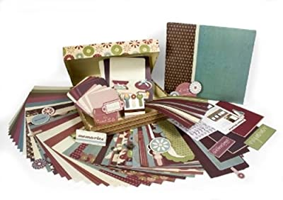 Colorbok Antique Woodcut Scrapbook 12 by 12 Album Bo by Kit by Colorbok
