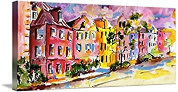 70ee2dfc390 Amazon.com  Imagekind Wall Art Print entitled Rainbow Row Charleston ...