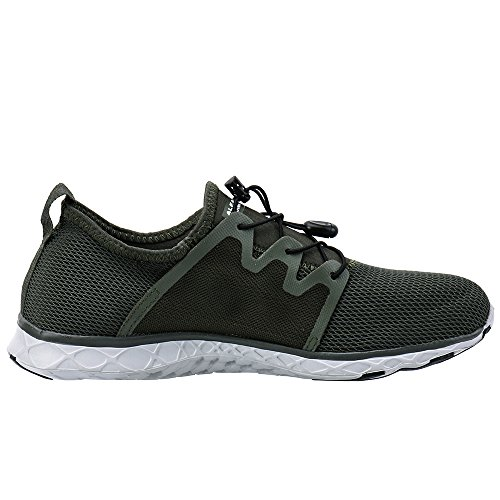 9e38fc74c537 ALEADER Men s Quick-Dry Slip On Water Shoes Army Green 12 D(M) US ...