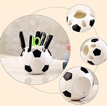 87ab776aa7cbd Kangqi - Portalápices de sobremesa con forma de balón de fútbol  Amazon.es   Hogar