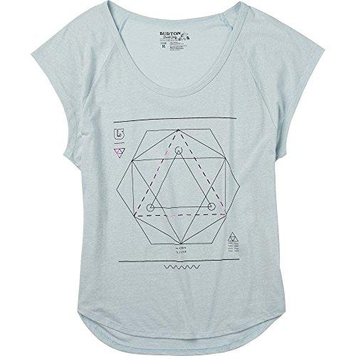 Burton Women's Vertigo Tee, Large, Silver (Vertigo Cotton T-shirt)