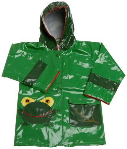 Kidorable Little Boys' Frog Raincoat, Green, 6-6X