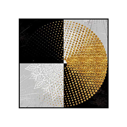 three thousand Modern Abstract Black and White Plaid Poster Irregular Pattern Print Canvas Painting Home Wall Art Decoration,30x40 cm No Frame,Photo Color1