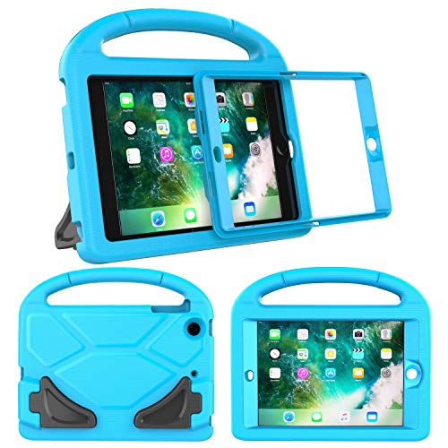 LTROP Kids Case for iPad Mini 1/2/3, Shockproof Handle Light Weight Stand Case Cover with Built in Screen Protector for iPad Mini, iPad Mini 3rd, iPad Mini 2nd Generation - Blue (Ipad Mini 3 Stand Cover)