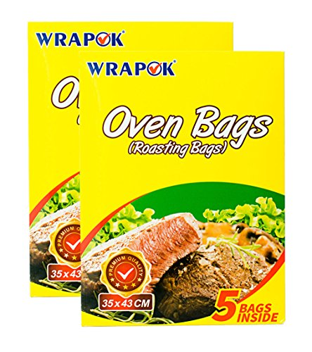 Roasting Bag Chicken (Promotion! Cooking Oven Bags Medium No Mess Roasting Bags For Turkey Chicken Meat Poultry Fish Seafood Vegetable - 10 Bags (14 Inch x 17 Inch))