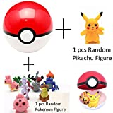 Generic Anime Pokemon Cosplay Pokeball With Pikachu And Pokemon Action Figure Toys - 7 Cm