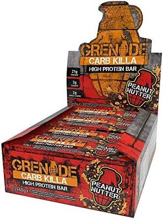 Bars Carb Killa, Peanut Nutter, 12 Bars, 2,12 oz (60 g), die jeweils - Granate