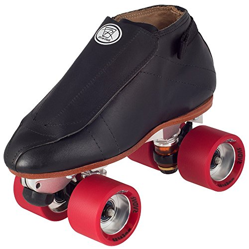 Riedell Jam Skates (Riedell 395 Quest Black Jam Skates with 62mm Mint Radar Presto Wheels)