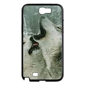 ALICASE Diy Design Back Case Gray Wolf for Samsung Galaxy Note 2 N7100 [Pattern-1]