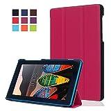 Carcasa para el Tablet Lenovo Tab3 7 Essential,Ultra Slim PU Cuero Carcasa Piel Flip Case Cover para el Lenovo Tab3 7 Essential Tab 3-710F Tablet de 7'' Pulgadas Funda de Cuero con Soporte Function