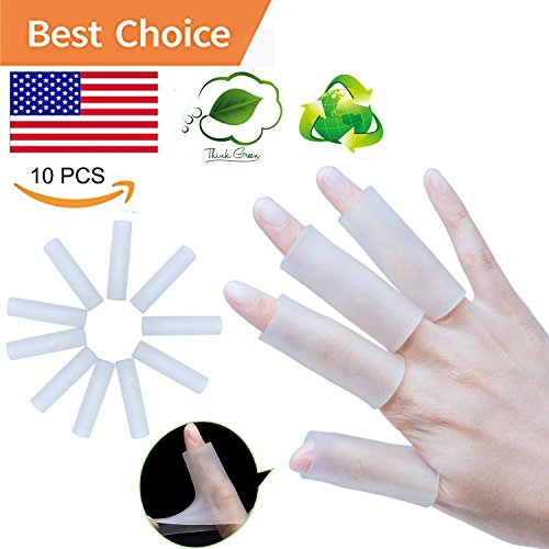 Sumifun Finger Protectors, Slicone Finger Sleeves, Finger Cots, Thumb Protectors, Finger Covers Protection for Finger Tips for Basketball - Slicone Skin