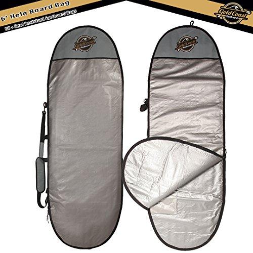 Gold Coast Surfboards - 6' HELE Surfboard Day Bag - UV & Heat Resistant Soft Top Foam Surfboard, Longboard, & SUP Board Bags