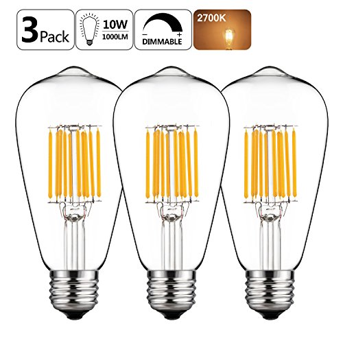 GEZEE Filament Incandescent Replacement Dimmable