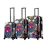 Mia Toro Italy Hamsa Love S Hard Side Spinner Luggage 3pc Set, White