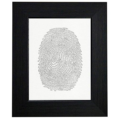 Royal Prints Coded Binary Fingerprint Graphic Framed Print Poster Wall or Desk Mount Options
