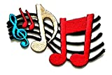 Nipitshop Patches Colorful Musical Notation Music