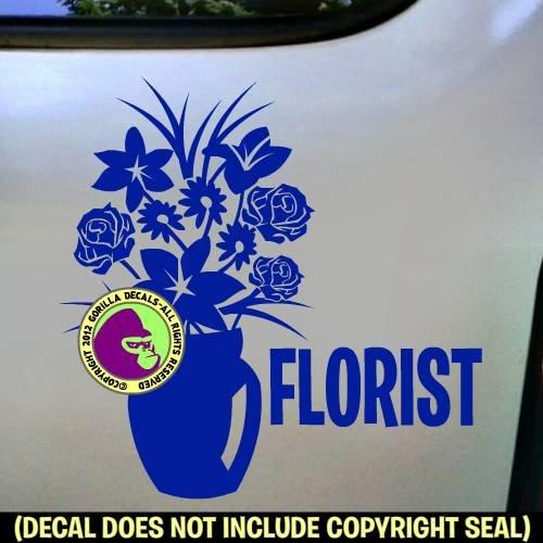 FLORIST Vinyl Decal Sticker E