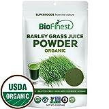 Biofinest Barley Grass Juice Powder – 100% Pure Freeze-Dried Antioxidant Superfood – USDA Organic Vegan Raw Non-GMO – Boost Energy & Immunity – for Smoothie Beverage Blend (4 oz Resealable Bag)