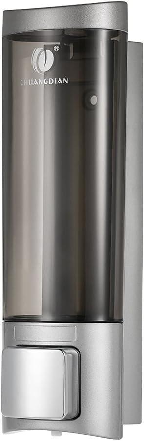 Anself- Dispensador de jabón manual montado en la pared para champú y manos para el cabello Plata 200ml