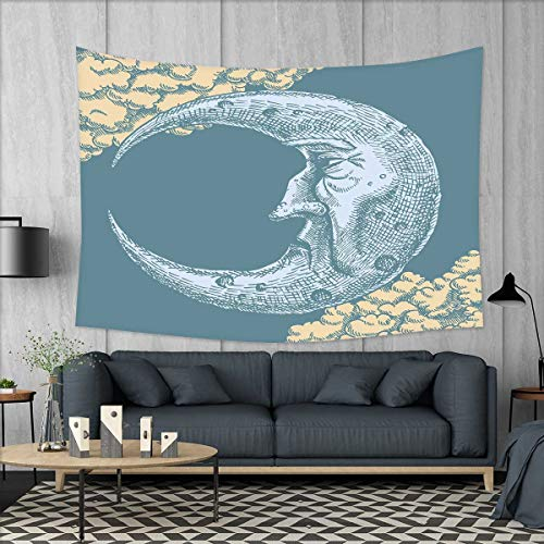 smallbeefly Moon Customed Widened Tapestry Vintage Crescent