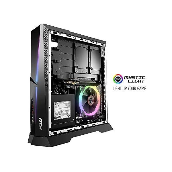 MSI Trident X Plus 9SD-042US High-End Small Form Factor PC Intel Core i7-9700K RTX 2070 Armor 8G OC 16GB 512GB PCIe NVME SSD,Black 4