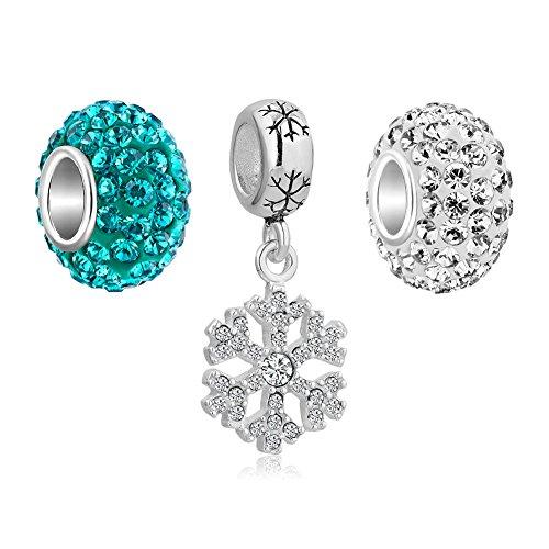 CharmSStory Sterling Snowflake Crystal Birthstone