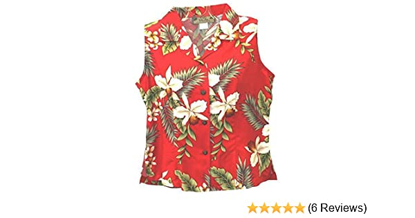 d39840166d82 Two Palms Women's Hawaiian Orchid Sleeveless Shirt at Amazon Women's  Clothing store: