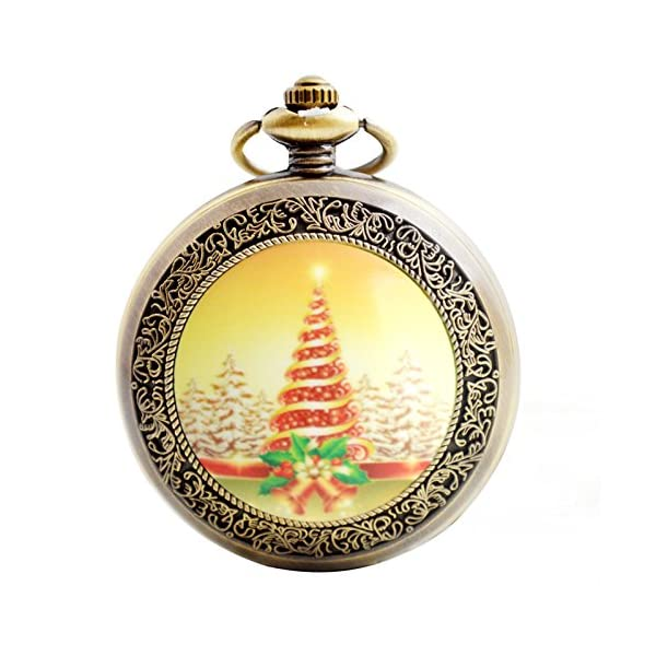 christmas quartz pocket watch boshiya antique full hunter steampunk heavy metal pocket watches with chain - Heavy Metal Christmas Decorations