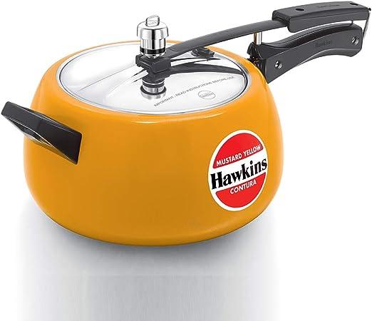 طنجرة ضغط من هوكينز مصنوع من المنيوم، أصفر سعة 5 لتر – Cmy50
