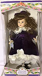 Victorian Collection: Genuine Porcelain Doll By Melissa Jane, Limited Collector's Edition with Certificate of Authenticity and Wooden Stand