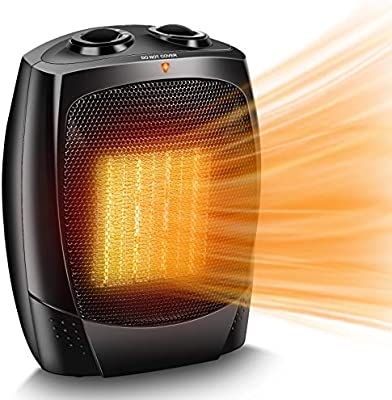 Amazon Com Space Heater 1500w Portable Electric Heater 3s Fast Heating Etl Certified Safe Ceramic Heater 3 Fan Modes Enegry Saving With Thermostat Small Space Heaters For Bedroom Office Indoor Use Black Home Kitchen