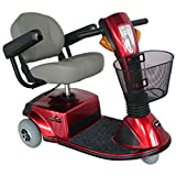 "Zip'r Mobility - Breeze - Travel Scooter - 3-Wheel - 18""W x 16""D Seat - Red"