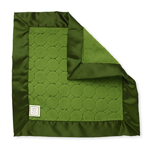 (SwaddleDesigns Baby Lovie, Small Security Blanket, Jewel Tone Puff Circles with Satin Trim, Pure Green)